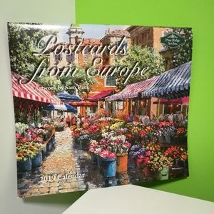 FREE Postcards From Europe Calendar 2019
